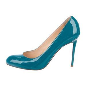 CHRISTIAN LOUBOUTIN Teal Simple Pumps